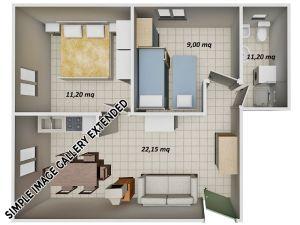 Kariati-Appartamenti-Mare---Trilocale-Mansarda-Tipo-10-Lato-Monte