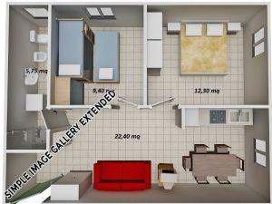 Kariati-Appartamenti-Mare---Trilocale-Mansarda-Tipo-20-Lato-Monte