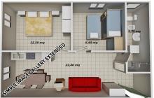 Kariati-Appartamenti-Mare---Trilocale-Mansarda-Tipo-20-Lato-Mare
